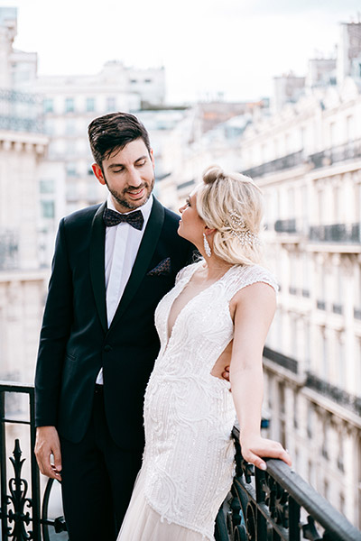 Photos de mariage en terrasse