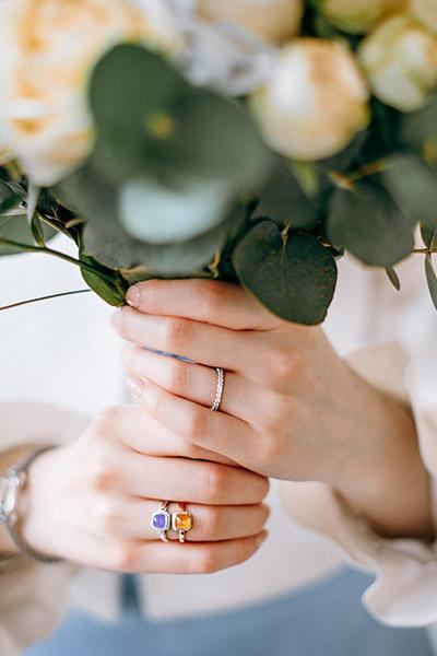 Photographie du bouquet de la mariée