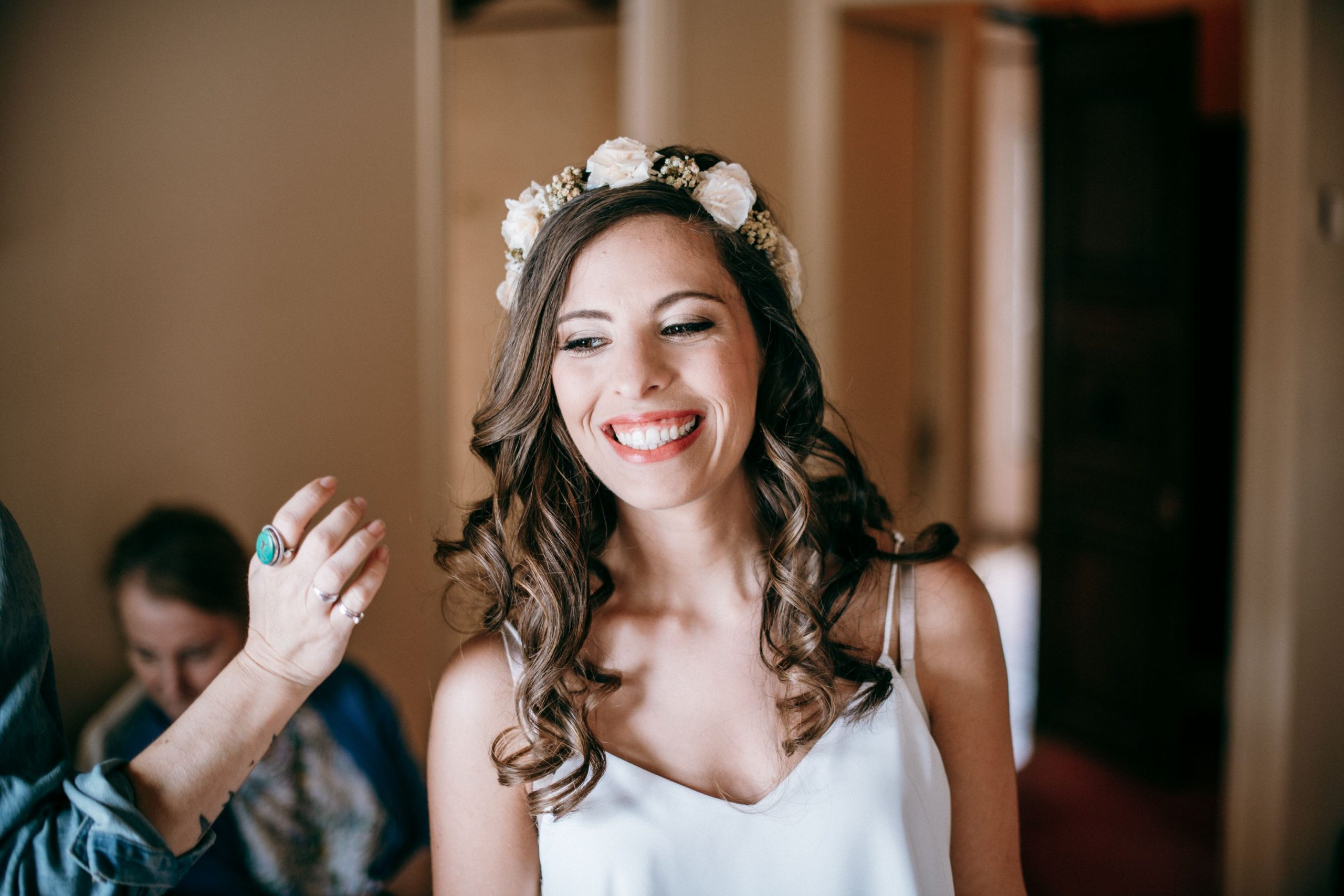 Mariée souriante, photographe mariage Paris 16éme
