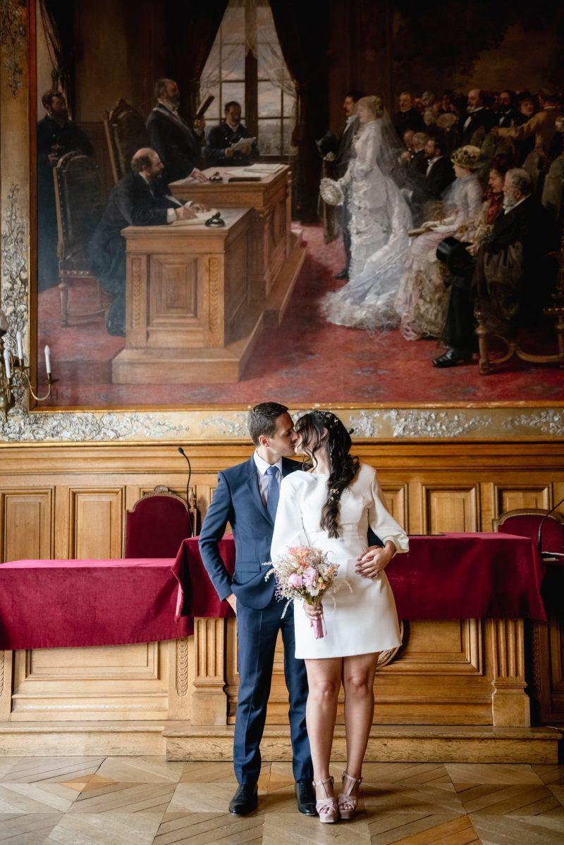 Photographe de mariage mairie 75019 paris